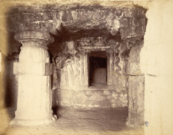 Interior of Mahadeva Cave Temple, Karusa